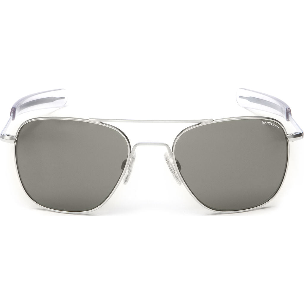 Randolph Engineering Aviator Matte Chrome | Gray Polarized Bayonet- Af038