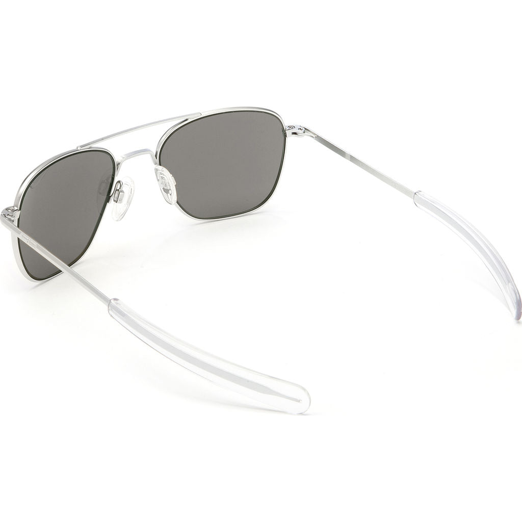 Randolph Engineering Aviator Matte Chrome Sunglasses | Gray Polarized Bayonet AR