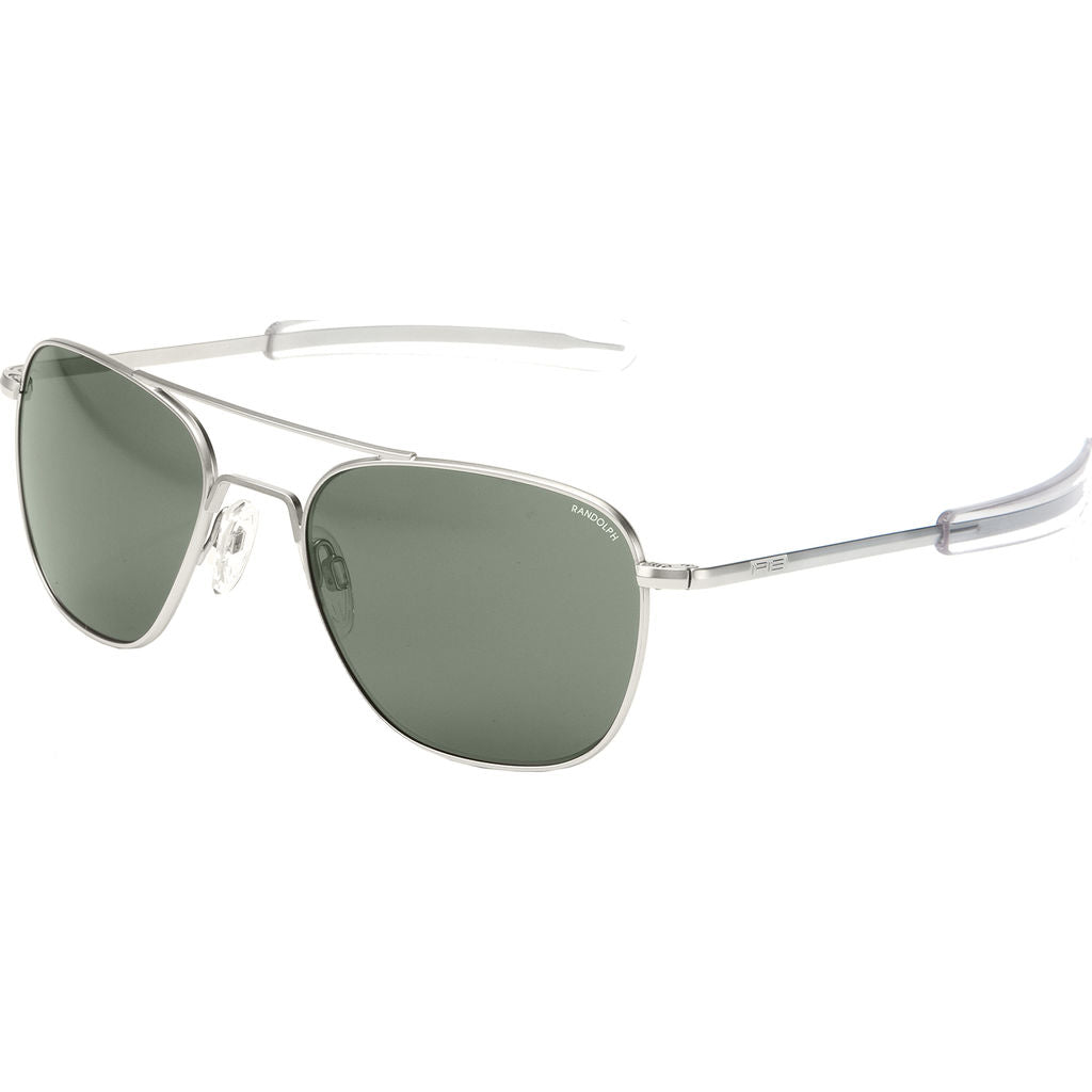 Randolph Engineering Aviator Matte Chrome Sunglasses | AGX Polarized Bayonet AR