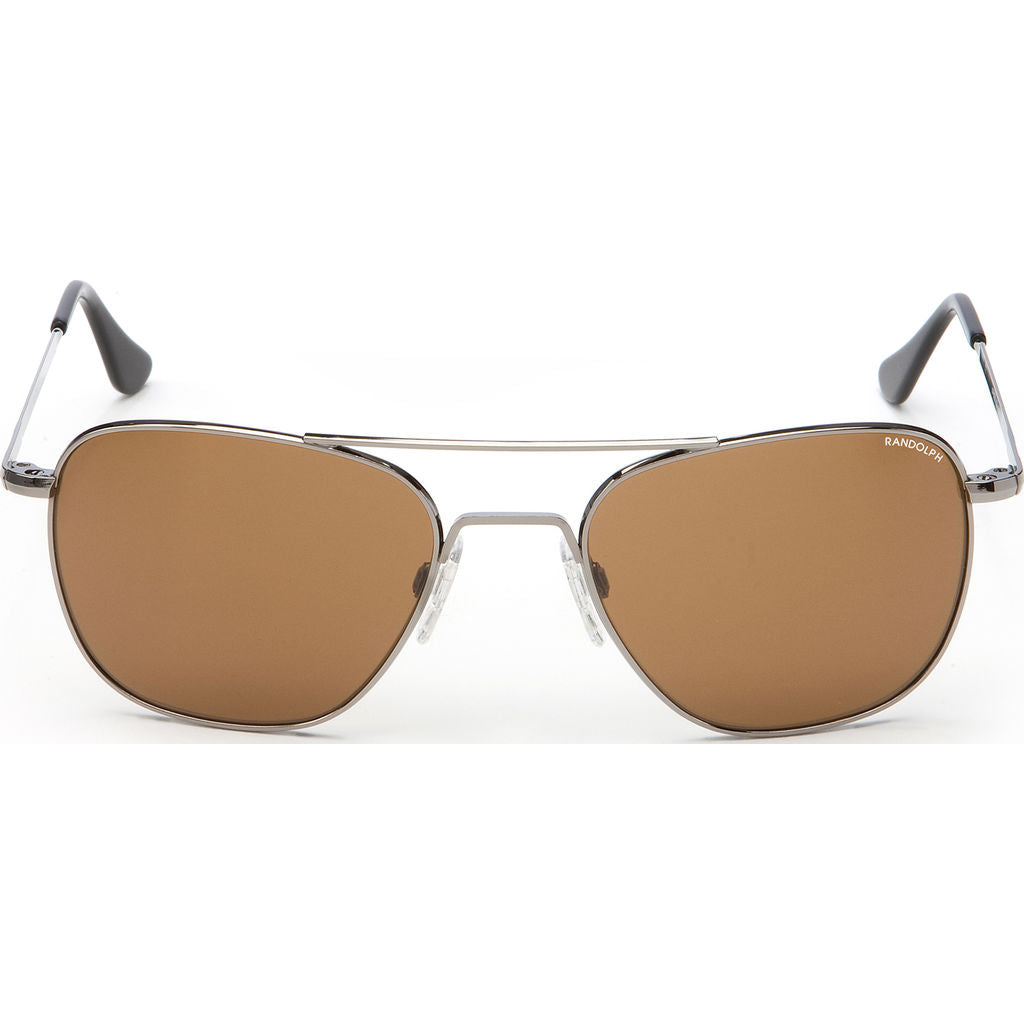 Randolph Engineering Aviator Gun Metal | Tan Polarized Skull- Af042