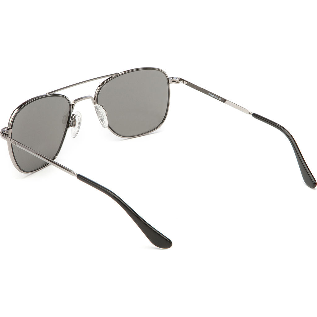 Randolph Engineering Aviator Gun Metal Sunglasses | Gray Polarized Skull AR