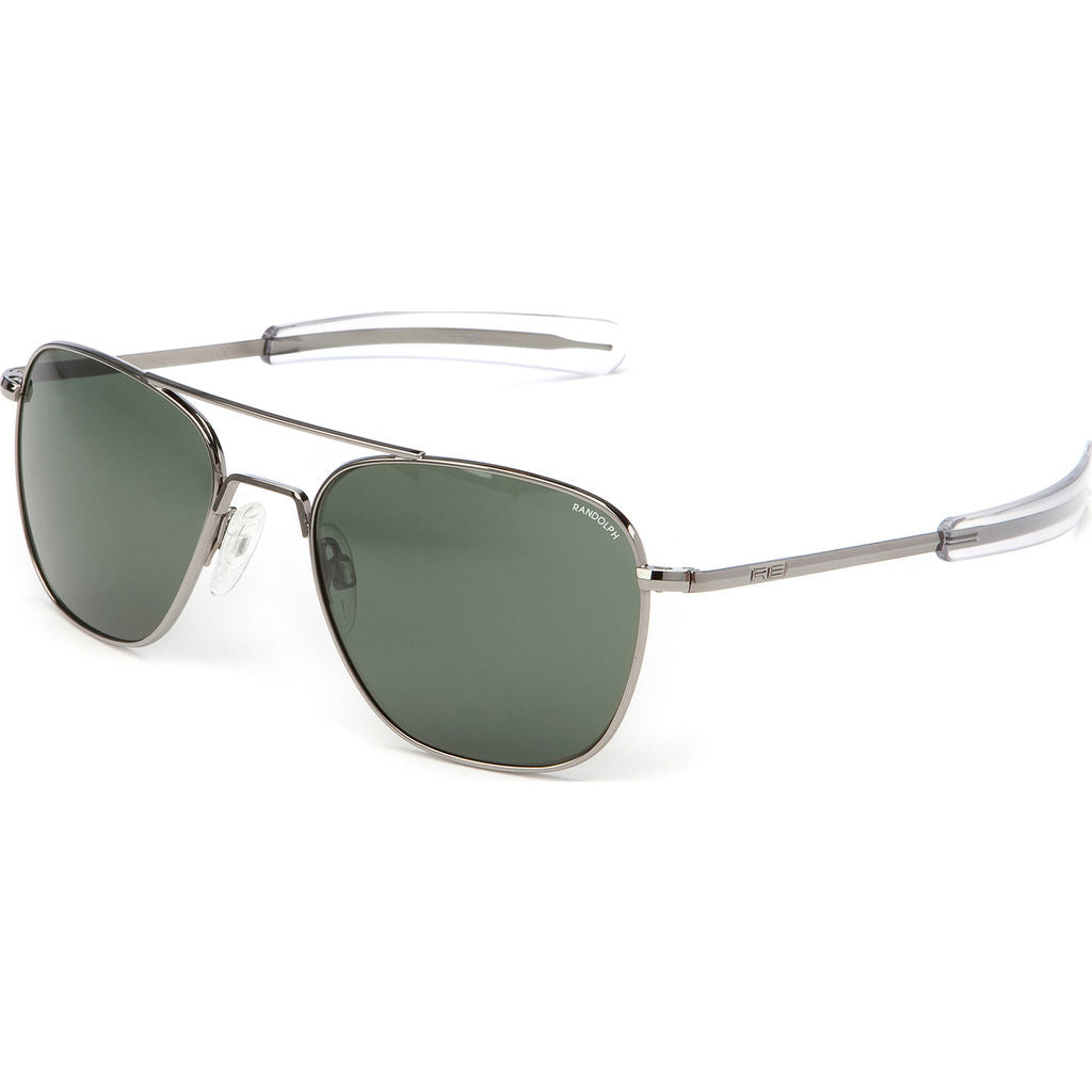 Randolph Engineering Aviator Gun Metal Sunglasses | AGX Polarized Bayonet AR