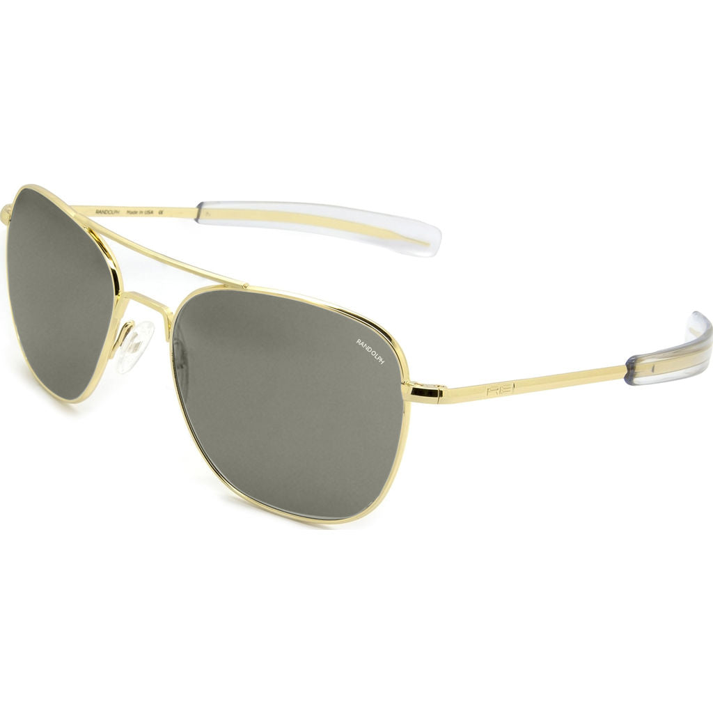 Randolph Engineering Aviator 23K Gold Sunglasses | Gray Bayonet AR