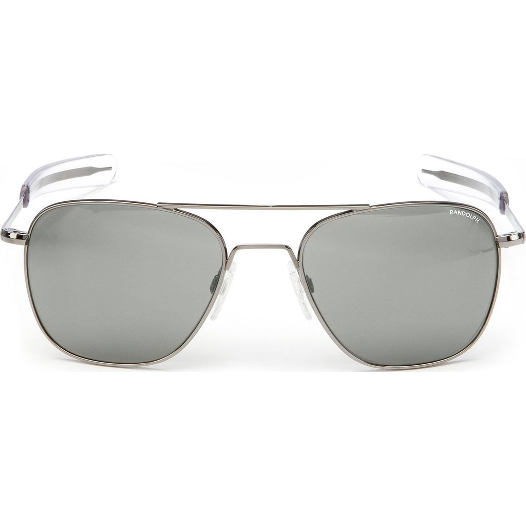 Randolph Engineering Aviator Bayonet Sunglasses | Gun Metal -Glass Silver Flash Polarized Mirror AR Af163 55m