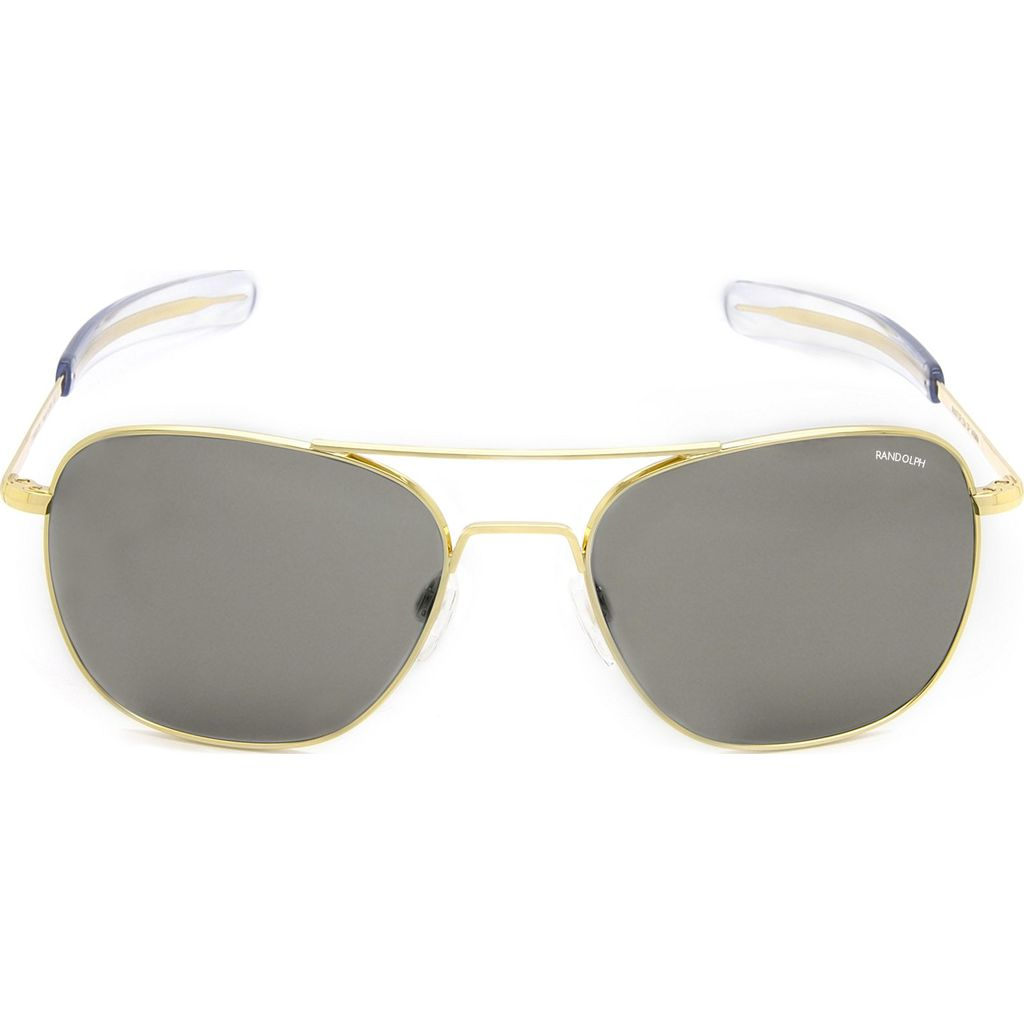 Randolph Engineering Aviator Bayonet Sunglasses | Gold 23K -Gray AR Af222 55mm