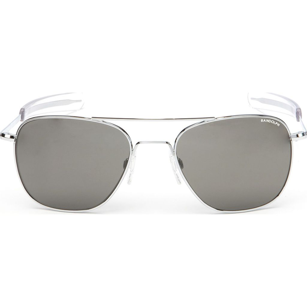 Randolph Engineering Aviator Bright Chrome Bayonet Sunglasses | Gray AR Af223 55mm