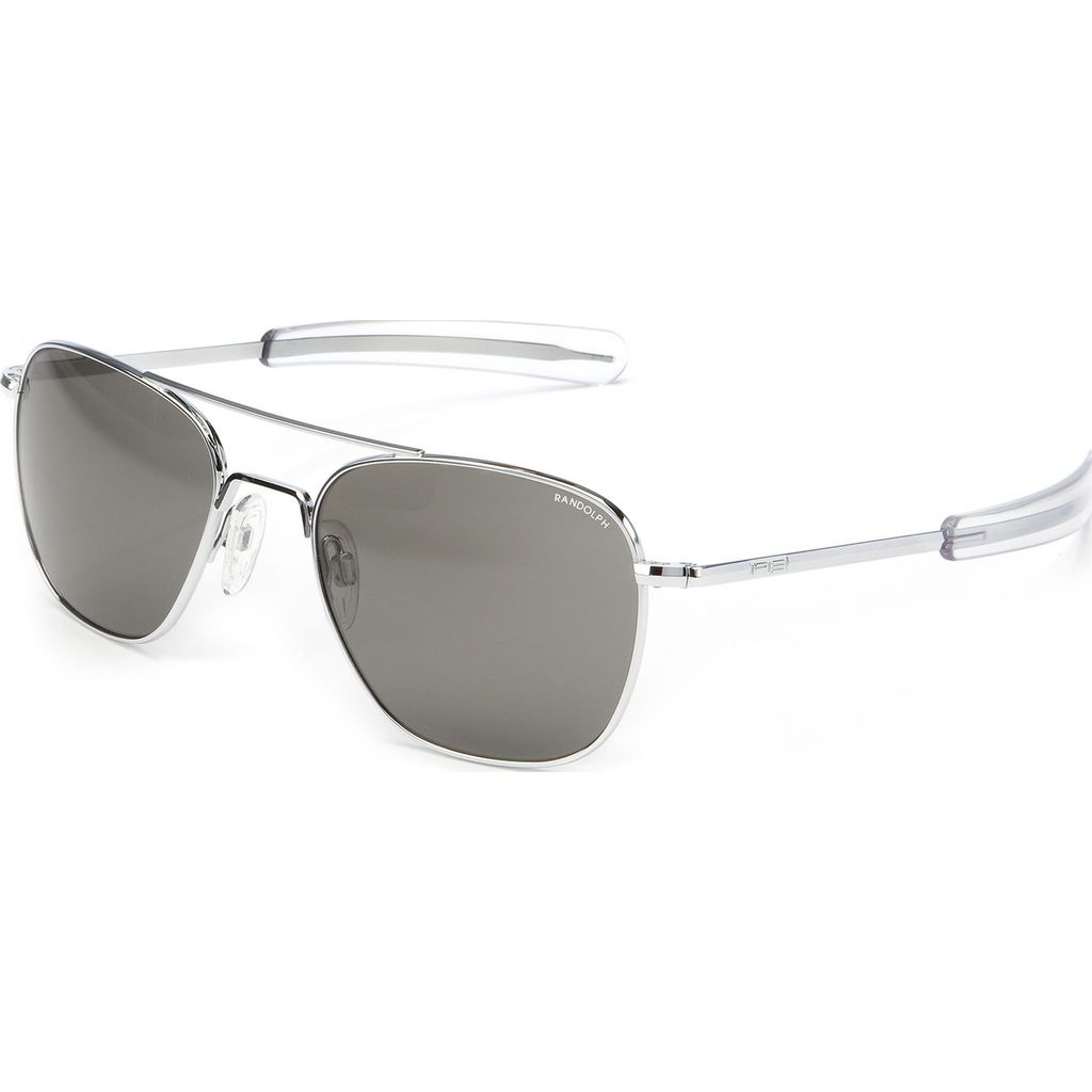 Randolph Engineering Aviator Bright Chrome Bayonet Sunglasses | Gray AR Af225 58mm