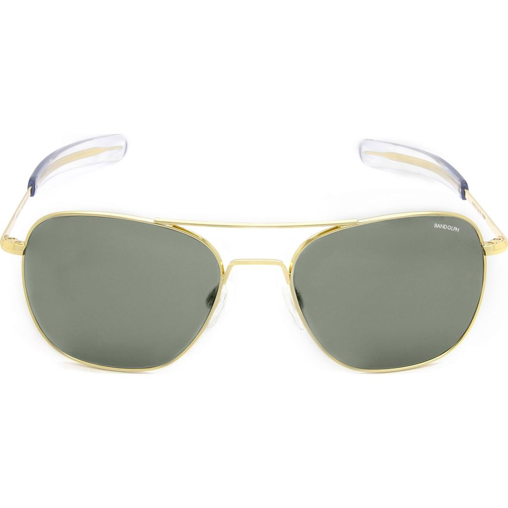 Randolph Engineering Aviator Bayonet Sunglasses | Gold 23K -AGX AR Af228 55mm