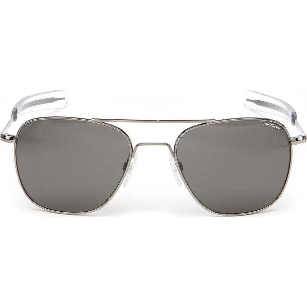 Randolph Engineering Aviator Bayonet Sunglasses | Gun Metal -Gray Polarized AR Af229 55mm