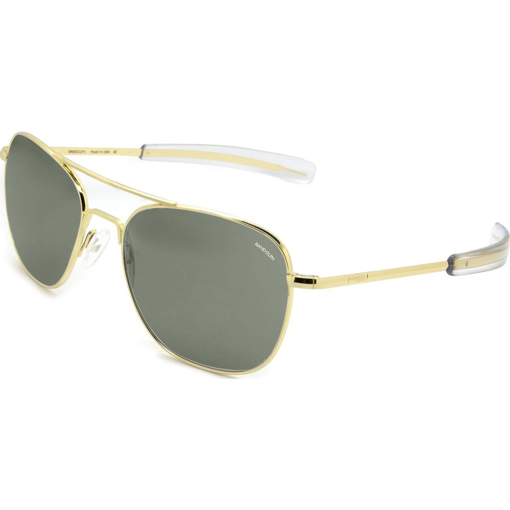 Randolph Engineering Aviator Bayonet Sunglasses | Gold 23K -AGX AR Af232 58mm