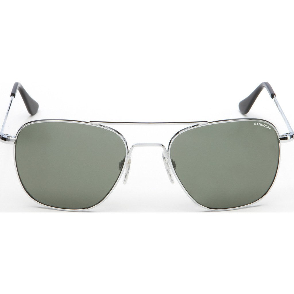 Randolph Engineering Aviator Bright Chrome Sunglasses | AGX PC Skull 52MM AF23414-PC
