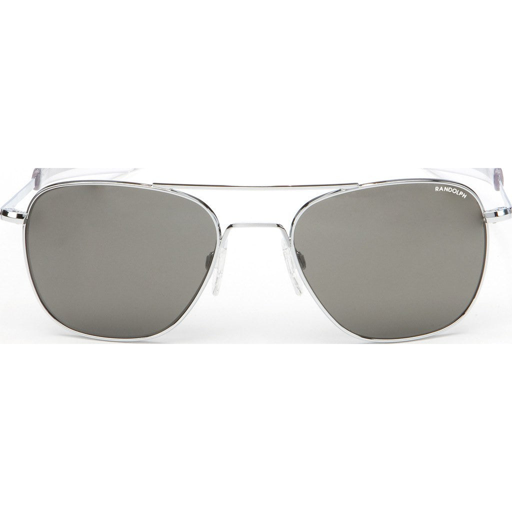 Randolph Engineering Aviator Bright Chrome Sunglasses | Gray PC Bayonet 55MM AF53641