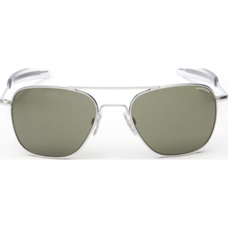 Randolph Engineering Aviator Matte Chrome Sunglasses | Gray PC Bayonet
