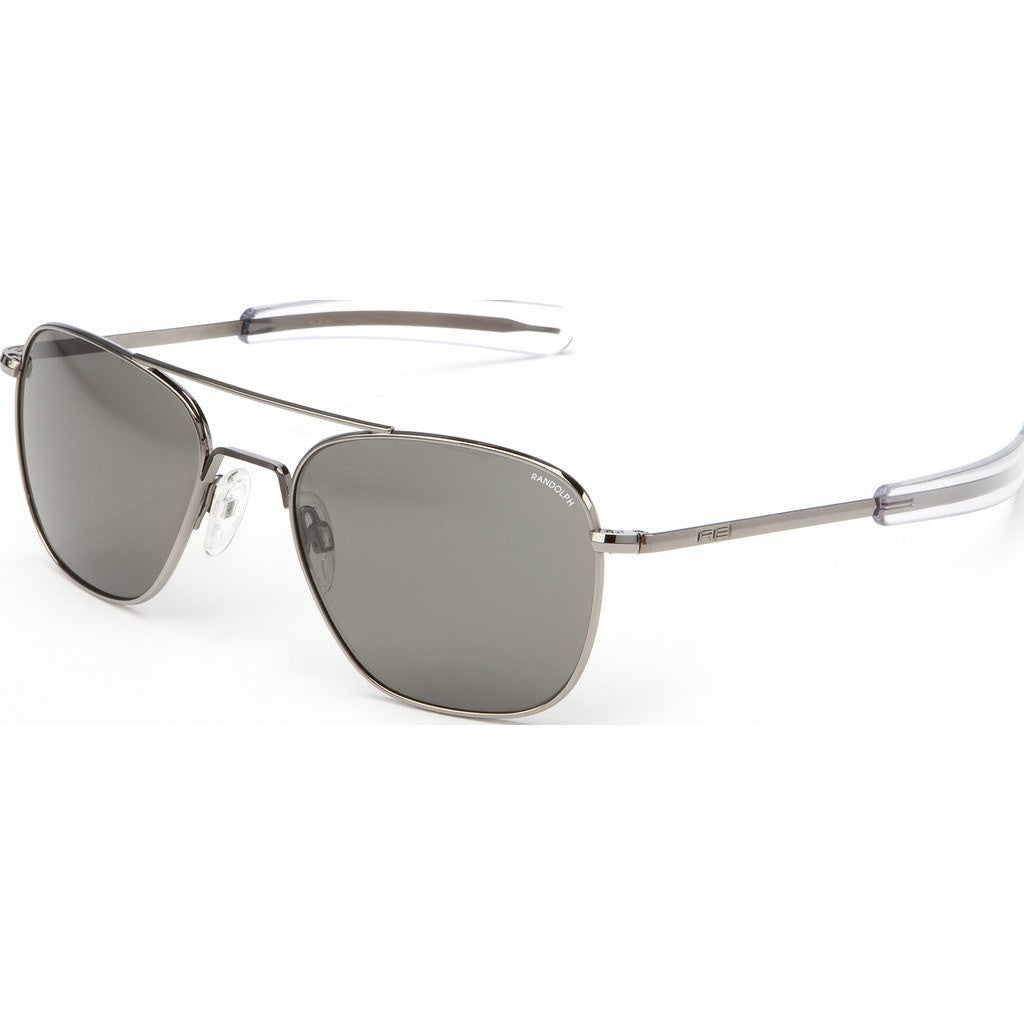 Randolph Engineering Aviator Gunmetal Sunglasses | Gray Polarized PC Bayonet 55MM AF5R634-PC