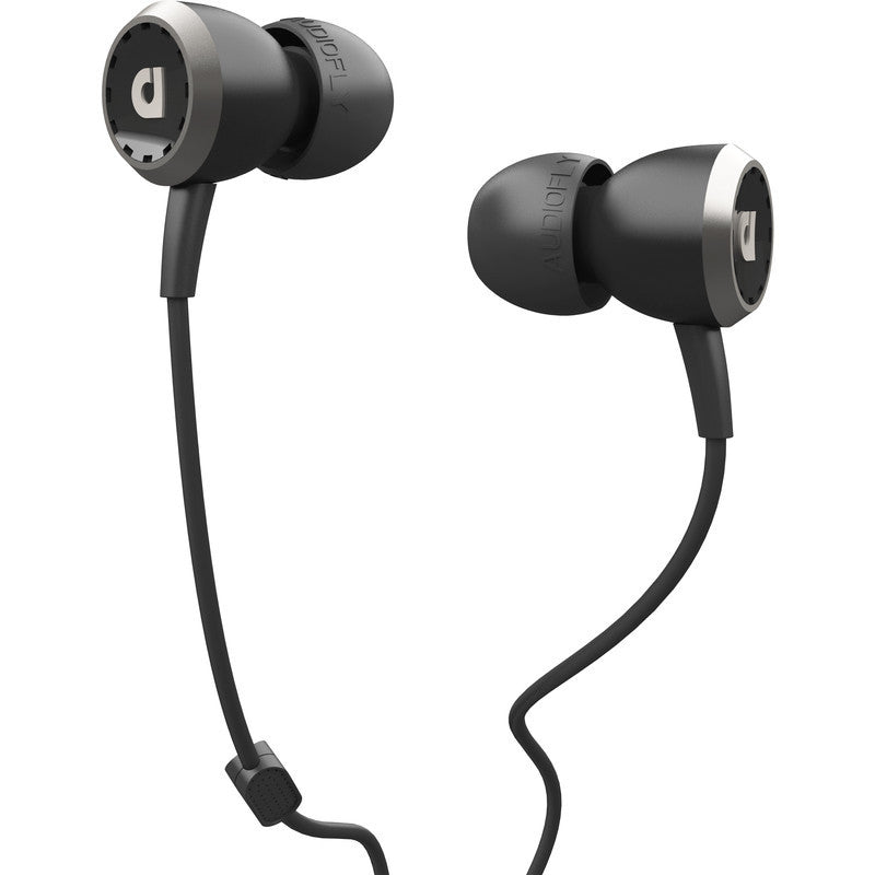 Audiofly AF33M In-Ear Headphone with Clear-Talk™ | Piano Black
