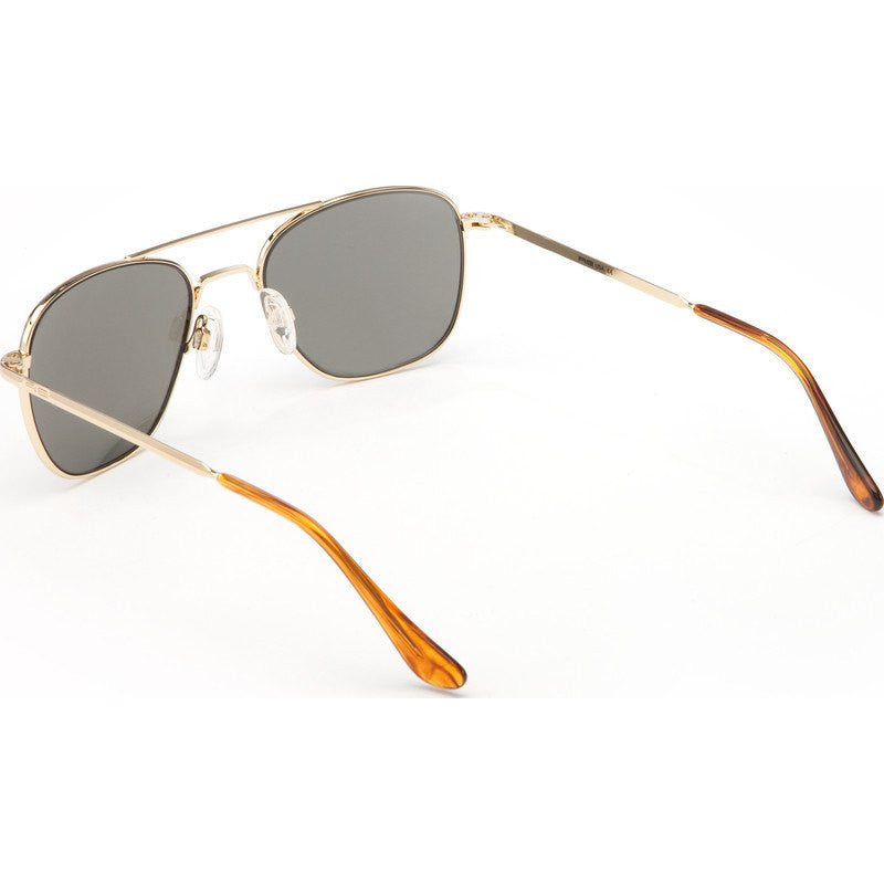 Randolph Engineering Aviator 23K Gold Sunglasses | Gray Polarized Bayonet