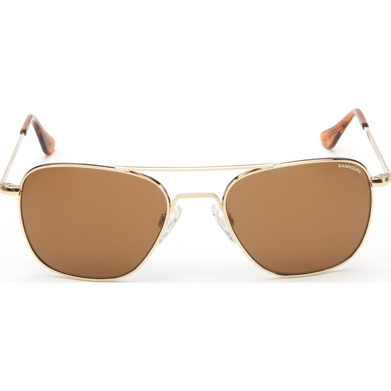 Randolph Engineering Aviator 23k Gold Plated Sunglasses | Tan Skull