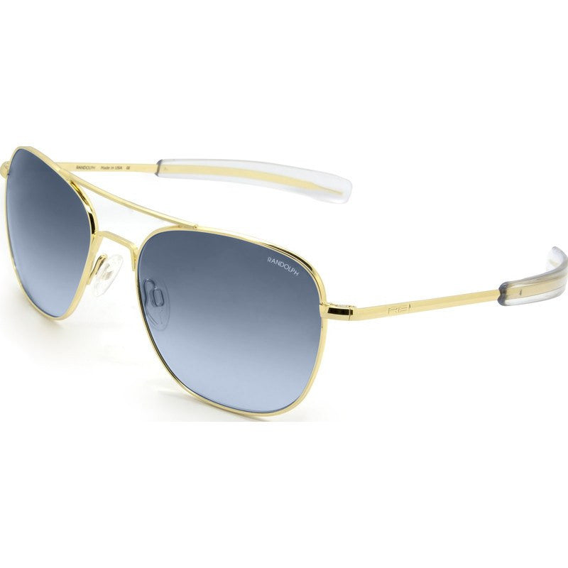 Randolph Engineering Aviator 23K Gold Plated Sunglasses | Blue Gradient Bayonet