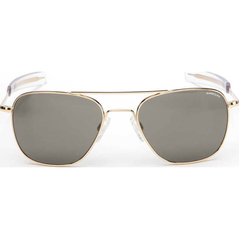 Randolph Engineering Aviator 23K Gold Plated Sunglasses | Gray PC Bayonet