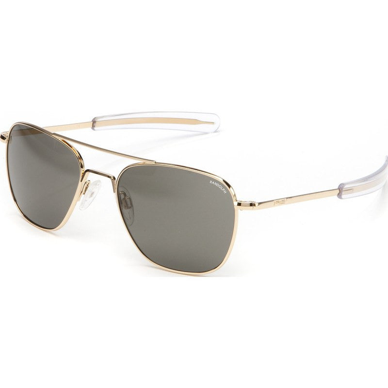 Randolph Engineering Aviator 23K Gold Plated Sunglasses | Gray Glass Bayonet