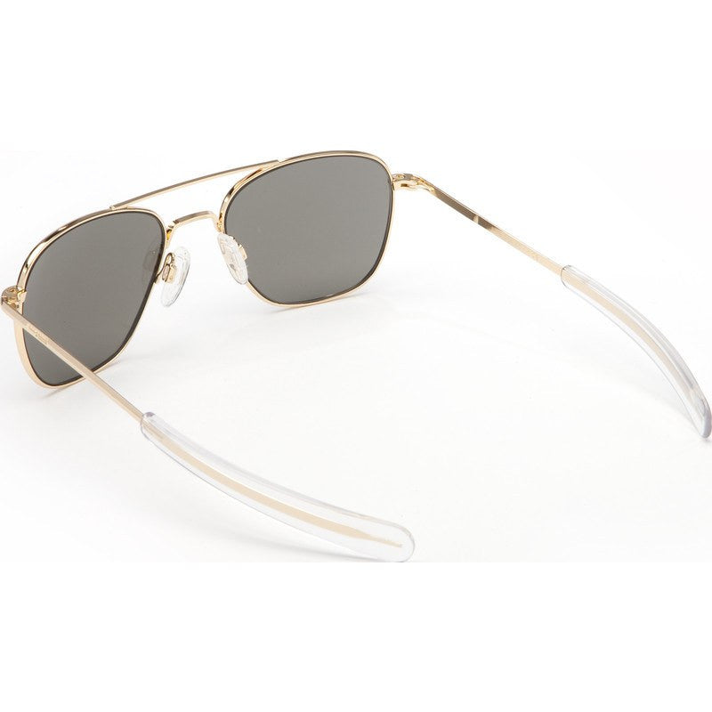 Randolph Engineering Aviator 23K Gold Plated Sunglasses | Gray Polarized Bayonet