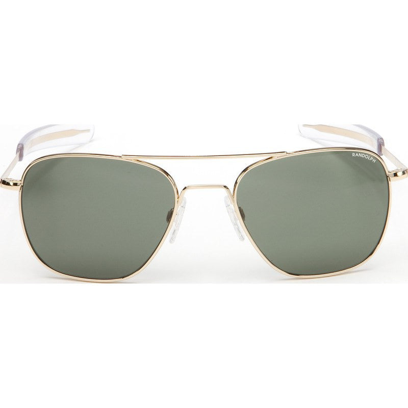 Randolph Engineering Aviator 23K Gold Plated Sunglasses | AGX PC Bayonet 55MM AF51614-PC