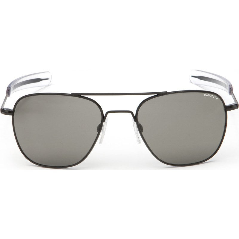 Randolph Engineering Aviator Matte Black Sunglasses | Gray Bayonet