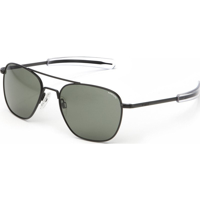 Randolph Engineering Aviator Matte Black Sunglasses | Gray Polarized Bayonet