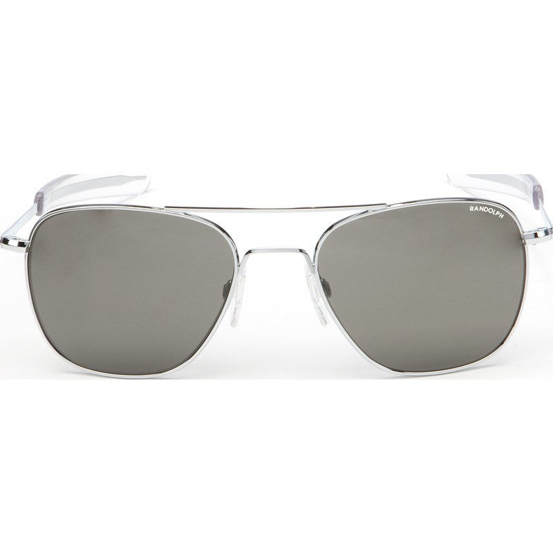 Randolph Engineering Aviator Bright Chrome Sunglasses | Gray Bayonet