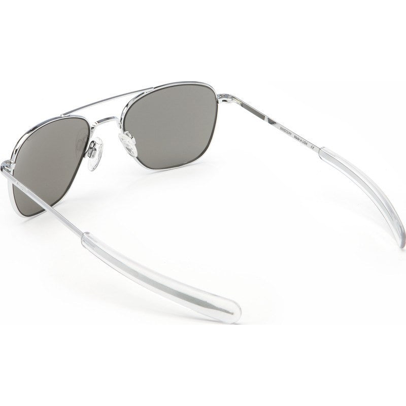 Randolph Engineering Aviator Bright Chrome Sunglasses | Gray Polarized Bayonet