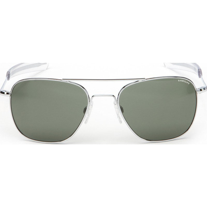 Randolph Engineering Aviator Bright Chrome Sunglasses | AGX Green Bayonet