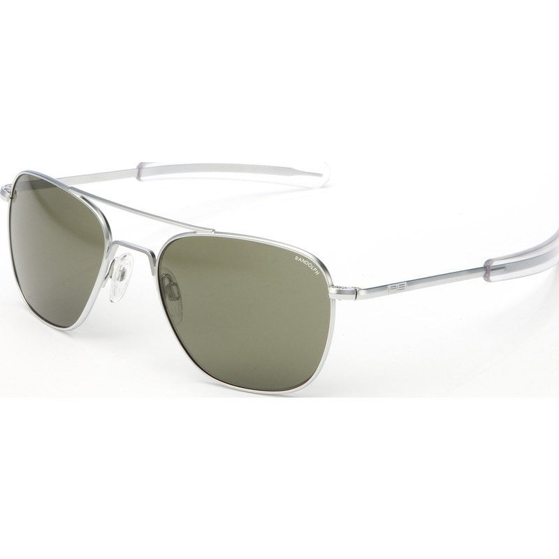 Randolph Engineering Aviator Matte Chrome Sunglasses | Gray Bayonet