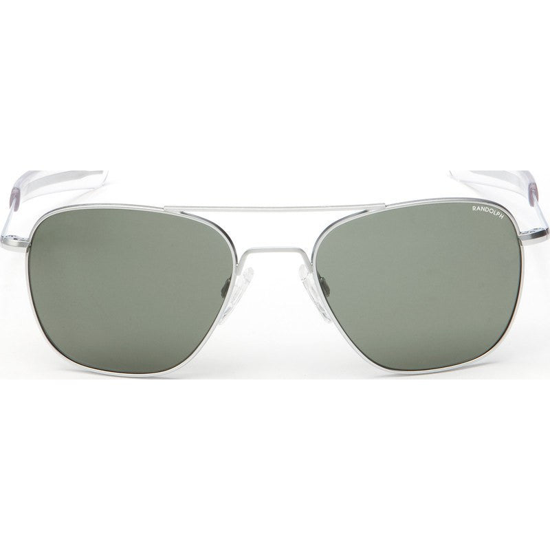 Randolph Engineering Aviator Matte Chrome Sunglasses | Gray Polarized Bayonet