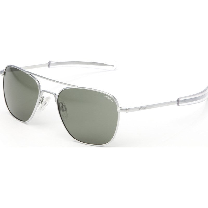 Randolph Engineering Aviator Matte Chrome Sunglasses | AGX Glass Bayonet
