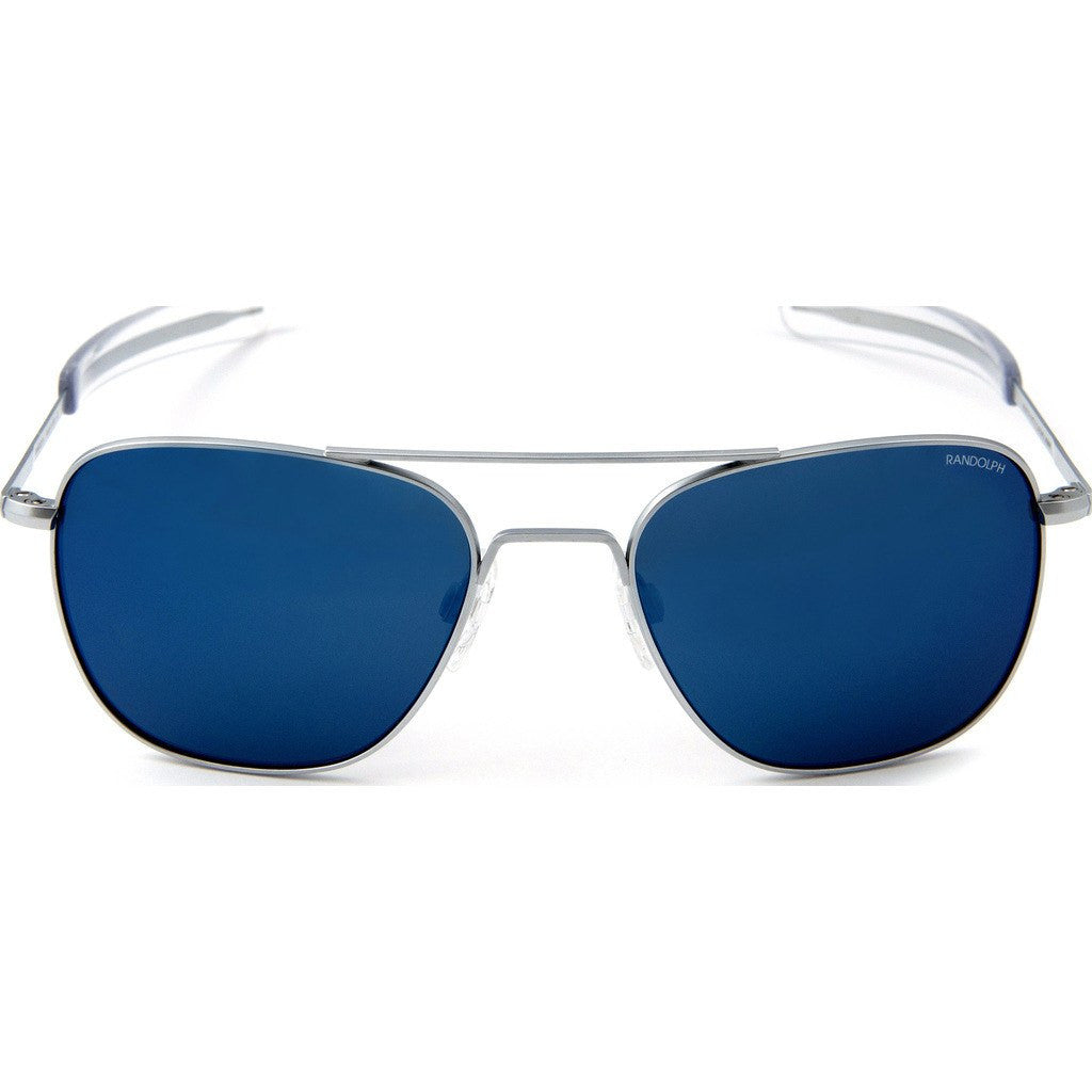 Randolph Engineering Aviator Matte Chrome Sunglasses | Blue Sky PC Bayonet 55MM AF54668-PC/58MM AF84668-PC