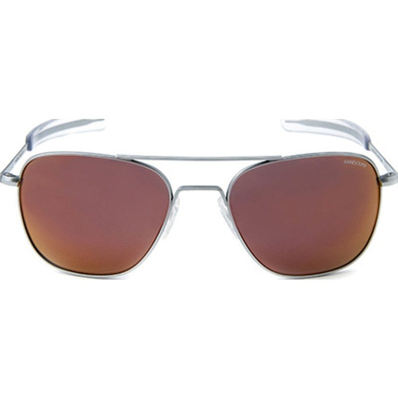 Randolph Engineering Aviator Matte Chrome Sunglasses | Orange Flash PC Bayonet