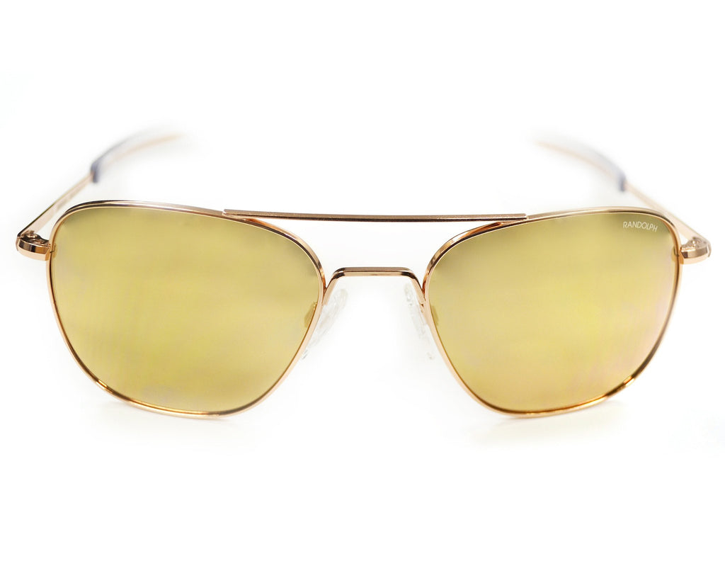 Randolph Engineering Aviator Rose Gold Plated Sunglasses | Rose Gold Flash Bayonet 55MM AF55666-PC
