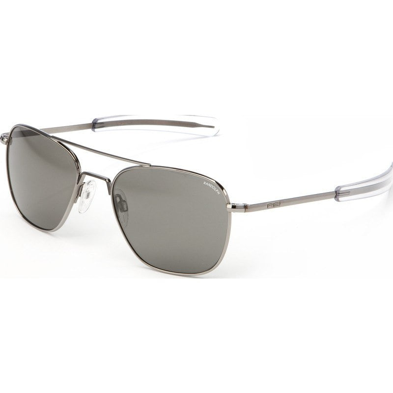 Randolph Engineering Aviator Gunmetal Sunglasses | Gray Polarized Bayonet