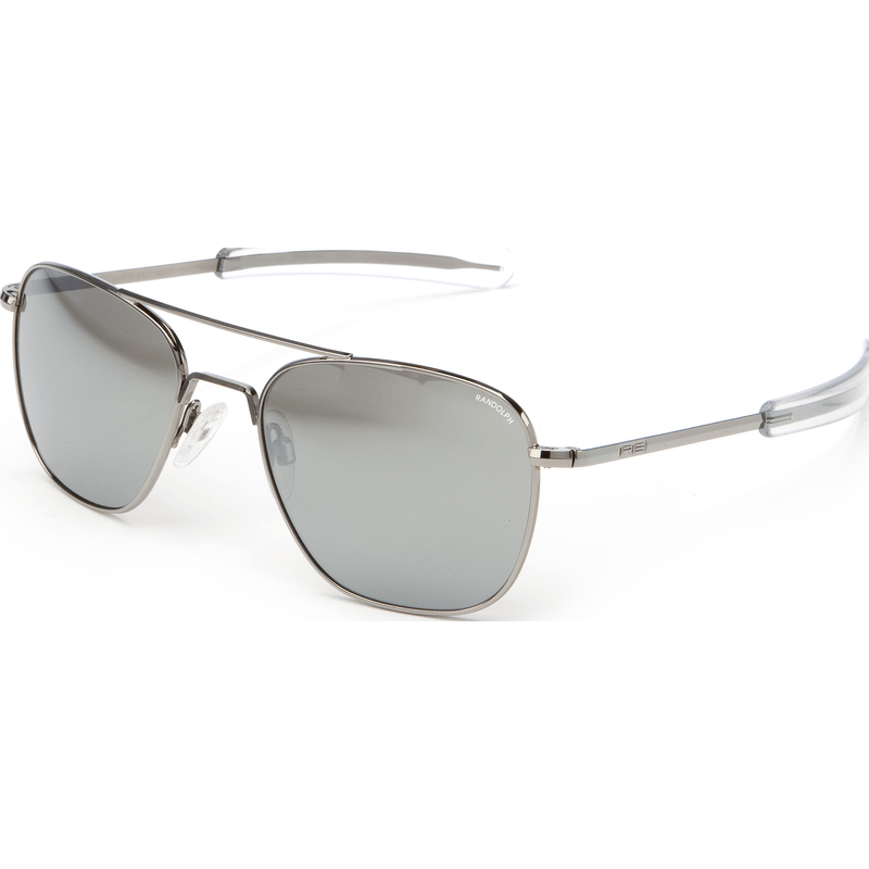 Randolph Engineering Aviator Gunmetal Sunglasses | Gray Flash Mirror Glass Bayonet 58MM AF8R663