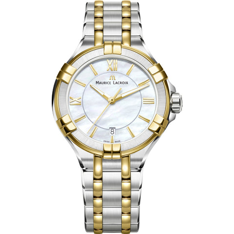 Maurice Lacroix Women's Aikon 35mm Watch  | Silver/Gold AI1006-PVY13-160-1
