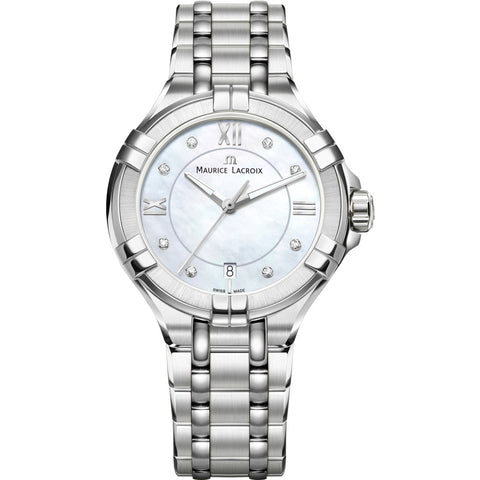 Maurice Lacroix Women's Aikon 35mm Mother of Pearl Watch | Silver AI1006-SS002-170-1