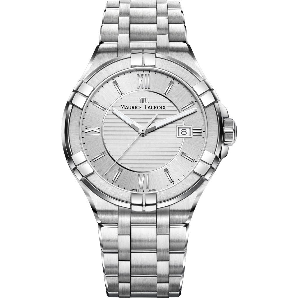 Maurice Lacroix Men's Aikon 42mm Roman Index Watch | Silver AI1008-SS002-130-1