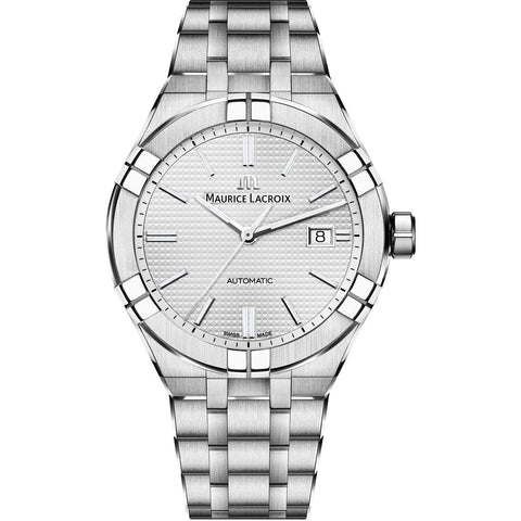 Maurice Lacroix Men's Aikon Automatic 42 mm Watch | Silver AI6008-SS002-130-1