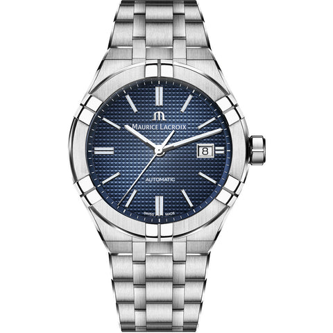 Maurice Lacroix Men's Aikon Automatic 42 mm Watch | Blue/Silver AI6008-SS002-430-1