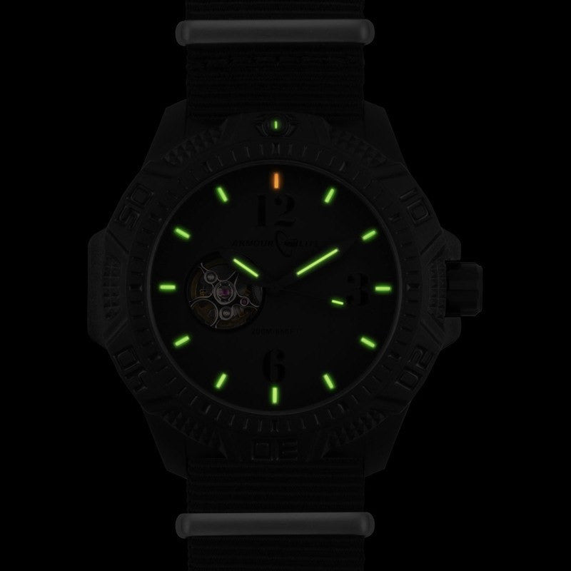 Armourlite Caliber Automatic AL1204 All Black Watch | Nylon