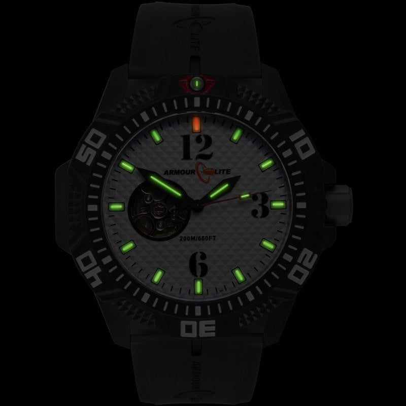 WhiteRubber Watch Armourlite Al1212 Black Automatic qSUVpzM