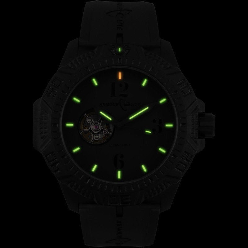 Armourlite Caliber Automatic AL1214 All Black Watch | Rubber