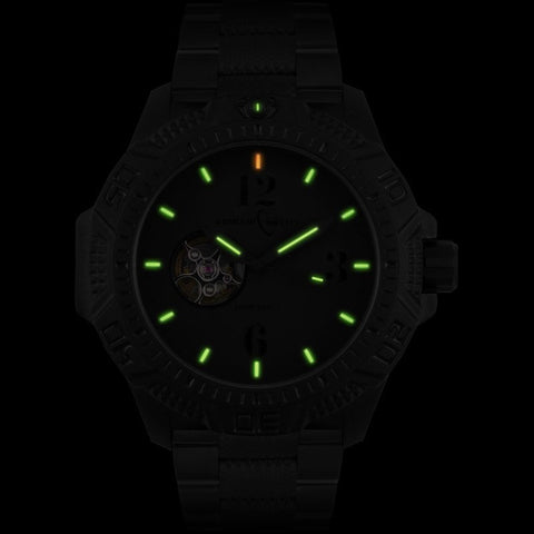 Armourlite Caliber Automatic AL1224 All Black Watch | PVD Steel
