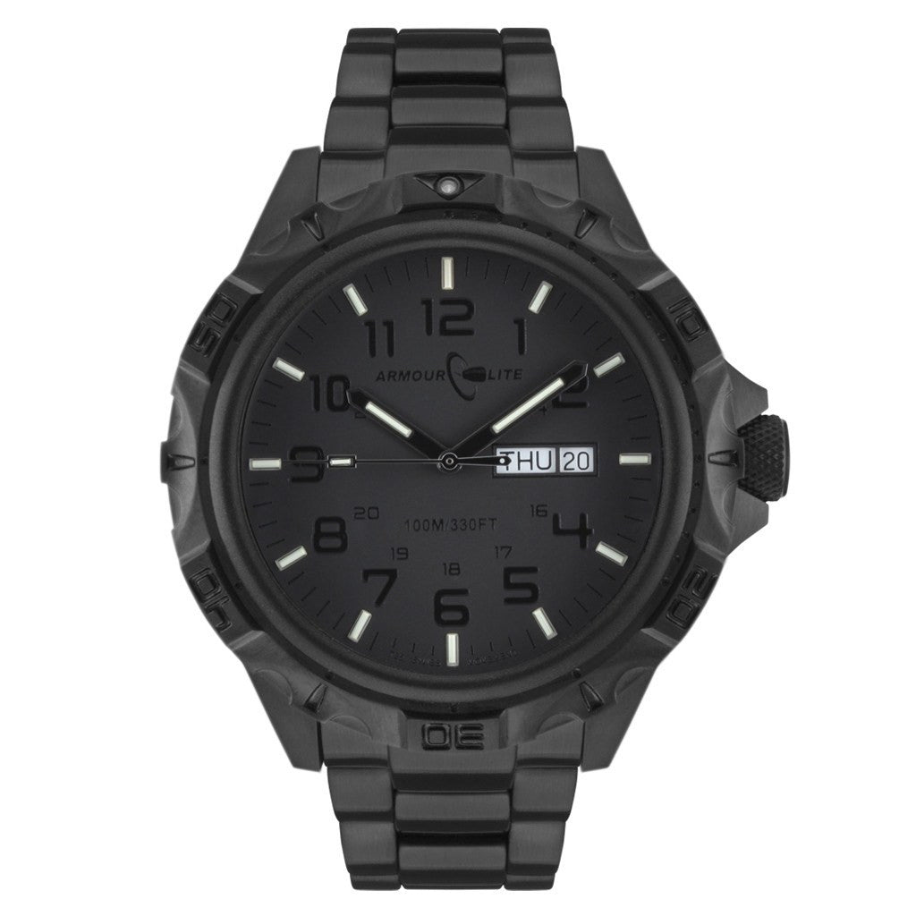 Armourlite Professional AL1404 All Black Watch | Steel