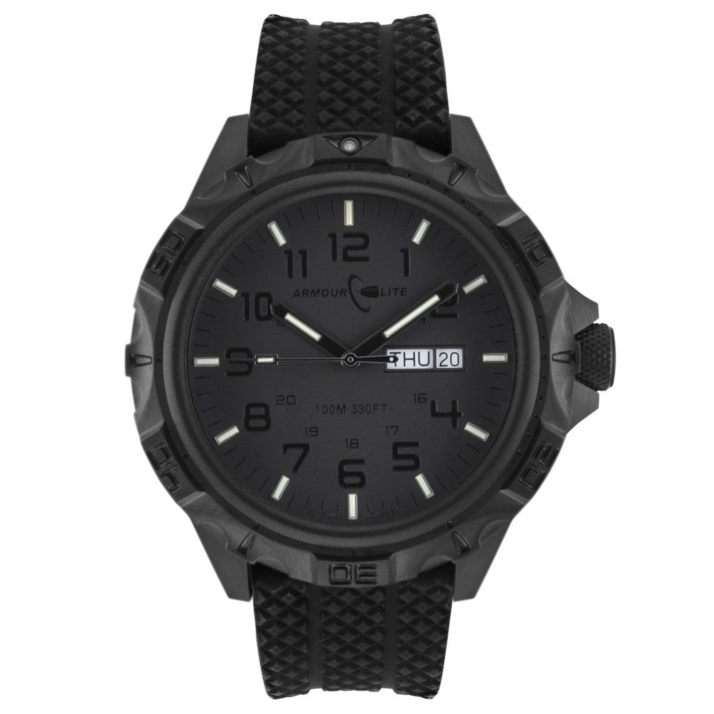 Armourlite Professional AL1414 All Black Watch | Rubber